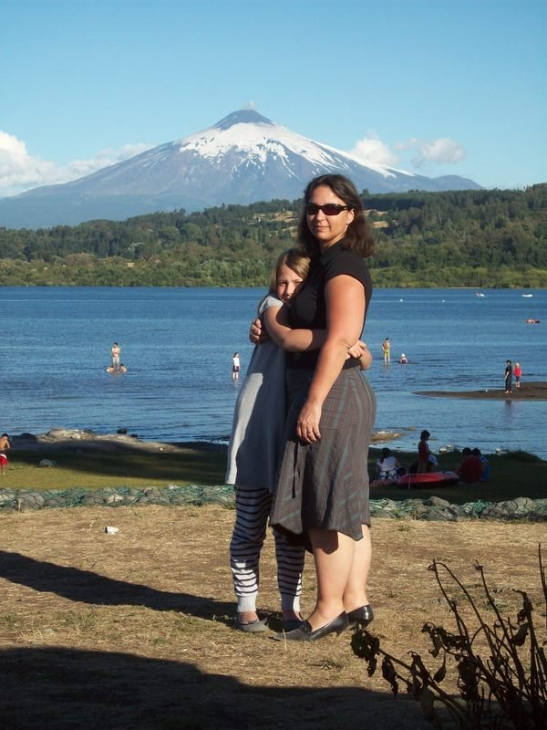 Volcan Villarica vu du Lac du même nom_17/02/08